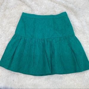 J crew skirt size 2 Kelly green lined